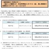 振替納付日が所得税は5月15日、消費税は5月19日に延長