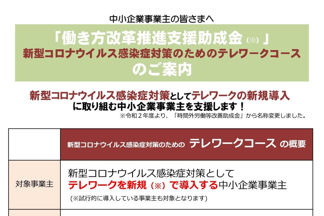 テレワーク導入に関する補助金【新型コロナウイルス感染症対策】
