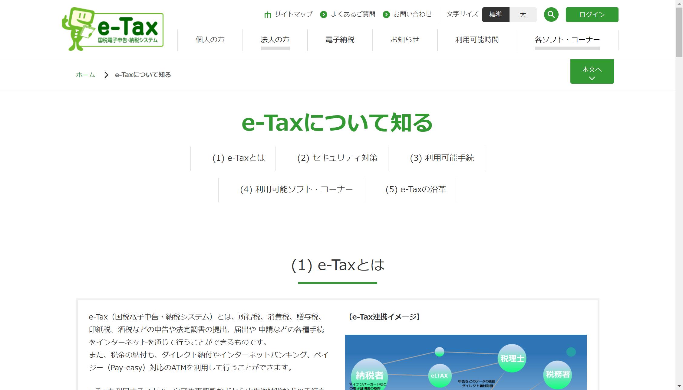 e-Taxの準備